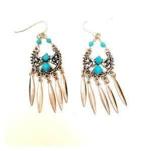 Jewelry - 💜3/30 Sterling Turquoise Earrings